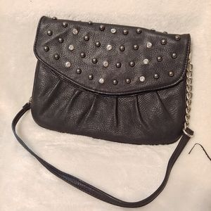 Black grace Adele rhinestone clutch shoulder bag